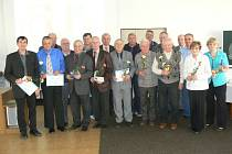 GALERIE členů ČUS – jubilantů, kteří převzali ocenění za dlouholetou a dobrovolnou činnost v tělovýchově a sportu.