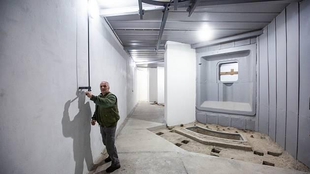 Rekonstruované prostory pevnosti Hanička na Rychnovsku.