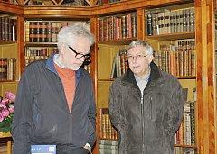 Břetislav Vachala při návštěvě zámku v Kostelci nad Orlicí.