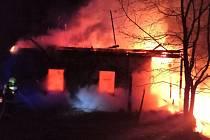 Požár chalupy v Liberku