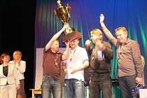 Absolutní vítěz - Real Dobruška. Zleva: Miroslav Sixta, Marcel Hájek, Aleš Hrudík a Leoš Dragúň.