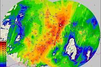 Úhrn srážek za 24 hodin od 5.9. 8 hod. do 6.9. 8 hod.
