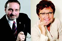 Václava Domšová a Miroslav Antl - dvojice, která míří do druhého kola senátních voleb na Rychnovsku.