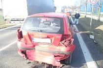 Hromadná nehoda u Solnice.