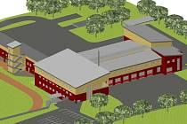 Nová rychnovská požární stanice podle projektu