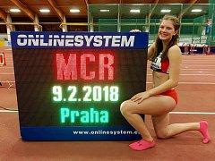 Dobrušská atletka Kateřina Hlávková se v Praze zúčastnila mistrovství České republiky ve vícebojích.