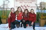 Talentované dobrušské závodnice na mezinárodních závodech v Brně (zleva): Lenka Rozínková, Pavlína Prudičová, Monika Mervartová a Kateřina Hlávková.
