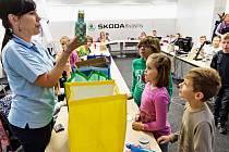 Z PREMIÉRY environmentálně edukačního dne.  Závod ŠKODA AUTO v Kvasinách uspořádal pro žáky základních škol zábavně-naučné dopoledne zaměřené na problematiku nakládání s odpady a péči o životní prostředí.