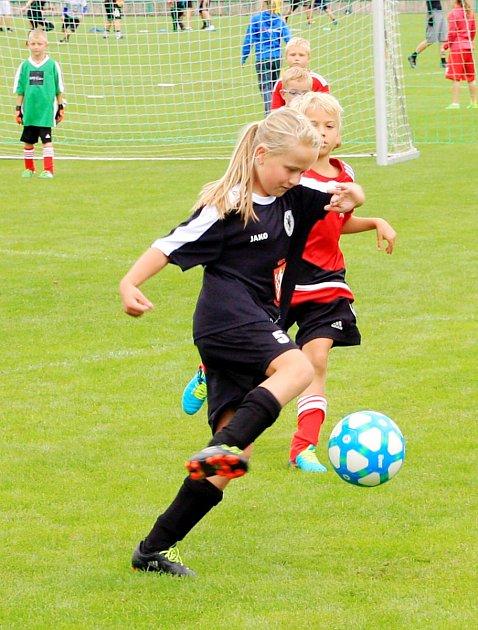Deset celků se představilo na fotbalovém turnaji mladších přípravek vDobrušce.