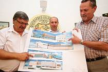 Vizualizace stavby nového krytého bazénu v Rychnově nad Kněžnou.