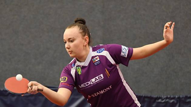 Talentovaná  česká reprezentantka Zdena Blašková vyhrála v extraligovém utkání s Ostravou všechny své dvouhry a potvrdila vynikající formu.