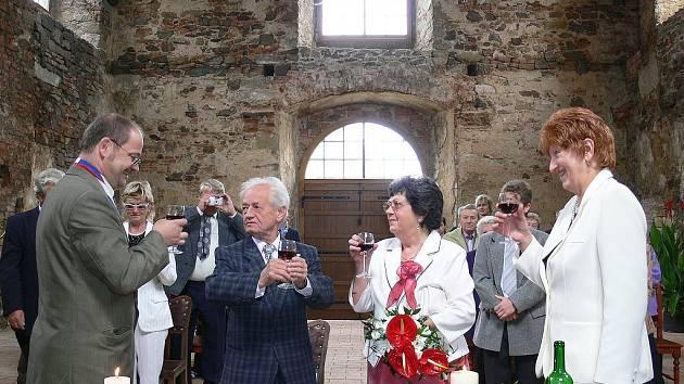 Diamantová svatba v Potštejně.