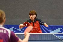 Čínská hráčka Guo Lin hájící barvy úřadujícího mistra z Hodonína předvedla své umění divákům v doberské herně.