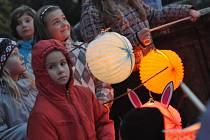 Lampionový průvod v Rokytnici v Orlických horách