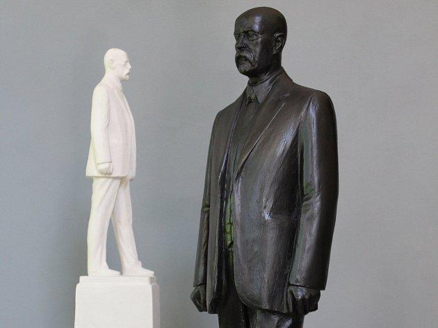 Model sochy z ateliéru Karla Bartáčka.