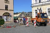 Rozkopané náměstí RK