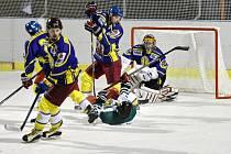 Krajská hokejová soutěž: Semechnice - Lanškroun.
