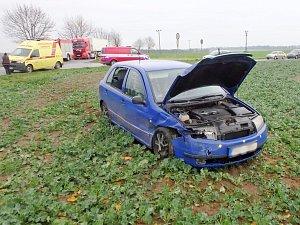 Nehoda dvou aut u Svídnice