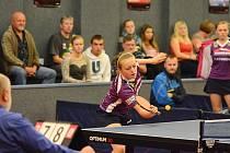 KVALITNÍ VÝKON podala v krajském derby doberská stolní tenistka Daniela Rozínková (na snímku).
