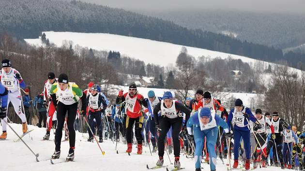 Minulý rok na účastníky Orlického maratonu čekaly ideální sněhové podmínky. Letos na tratě zřejmě nevyběhnou.