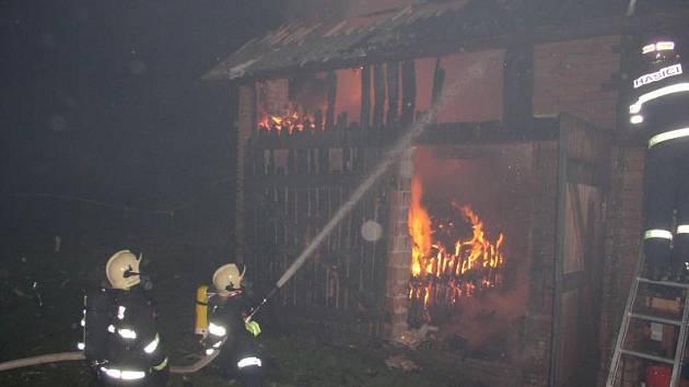Požár stodoly v Rychnově nad Kněžnou — Synkově.