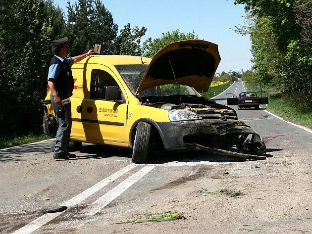 Dopravní nehoda u Dobrušky.