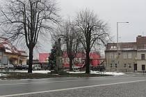 Náměstí v Borohrádku.