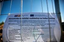 Stavba nové rozhledny na vrchlolu Velké Deštné.