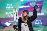 Giulia Tannová na Soldiers - FIS finále Světového poháru v Big air v Deštném v Orlických horách.