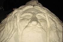 Sněhový vládce Orlických hor Rampušák v Deštném