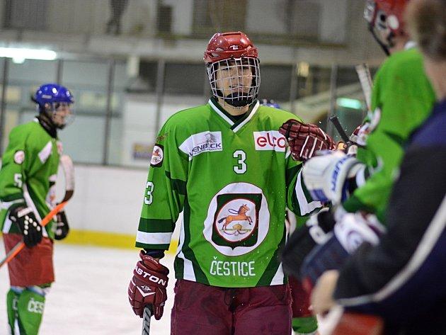 PĚTKRÁT se radovali ze vstřeleného gólu hokejisté Čestic, kteří zápas se Skutčí prohráli až v prodloužení.