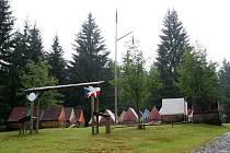 Letní dětský tábor v Kamenci u Zdobnice na Rychnovsku.