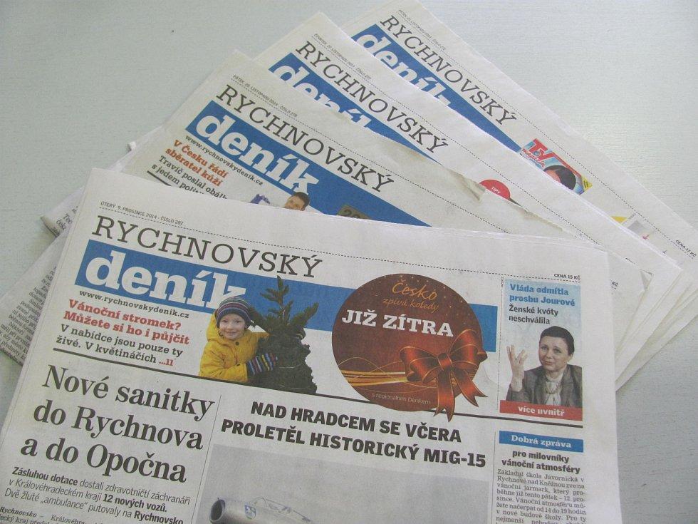 Noviny - Rychnovský deník