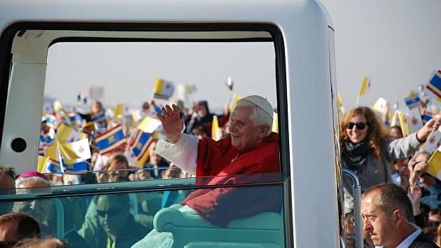 Papež Benedikt  XVI. v Brně.