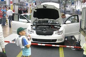 Ze dne otevřených dveří v automobilce Škoda v Kvasinách