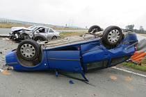 Nehoda u Třebešova.
