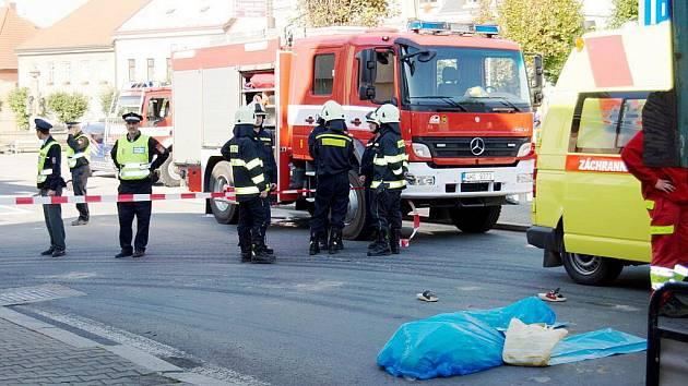 Tragická nehoda v centru Vamberka.