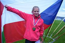 ZLATO ve skoku dalekém Kateřina Hlávková vybojovala na závodech EKAG v Brně.