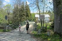 Hraniční most v Bartošovicích v Orlických horách.