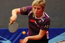 JAKO JEDINÁ z doberských prvoligových hráček dokázala bodovat Hana Hlávková, ale na úspěch týmu to nestačilo.