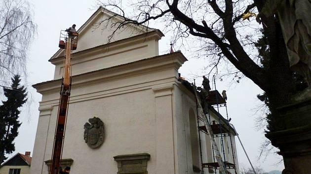 Oprava Mariánského kostelíku v Opočně