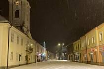 Kostelec nad Orlicí - pondělí 8. února ráno