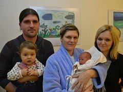ELIŠKA VANICKÁ  se narodila 28. ledna v 17:54 mamince Brigitě a tatínkovi Romanovi Vanickým z Týniště nad Orlicí. Holčička vážila 2960 gramů a měřila 48 cm. Doma se na ni těšili starší sestřičky Petra a Kristýna.