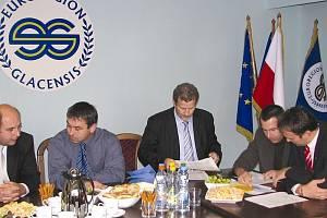 Jednání o evropských dotacích.