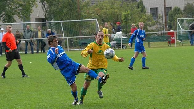V okresním derby na hřišti exdivizního Týniště se radovali hráči Přepych.