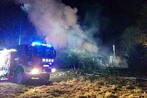 Požár polského penzionu.