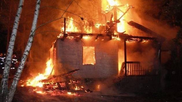 Požár chyty v Rybné nad Zdobnicí