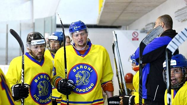 Opočenští hokejisté.