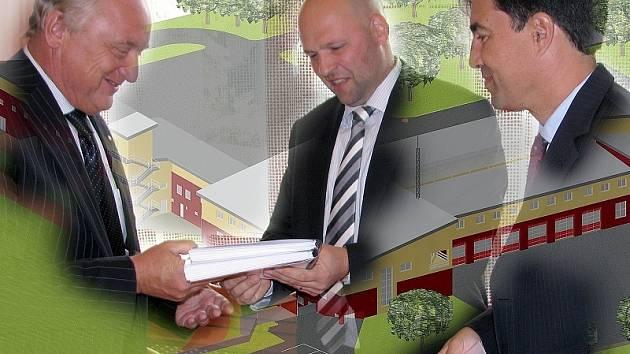 Podpis smlouvy za stamiliony korun