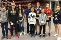 Na mezinárodním turnaji předváděly doberské naděje parádní výkony, když získaly hned šest medailí. Na snímku chybí Škalda a Kovaříčková.